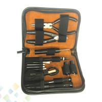 GT VAPE 공구 키트 다기능 핀셋이있는 DIY 공구 키트 RDA RTA RBA 분무 코일 빌더 용 대각선 플라이 어 Coiling Kit