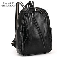 2017 Men Leather Backpack For Laptop Male Business Mochilas ...