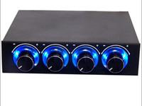 Четырехнал поворотной ручки многофункциональный контроллер охлаждения передней панели на передней панели -3,5 дюйма 4-контактный разъем порт CPU HDD Temp PC компьютерный контроллер скорости вентилятора