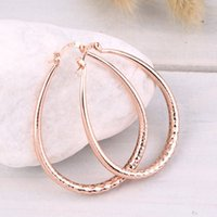 GENBOLI Gold Rose Gold Color Copper Alloy Hoop Earrings for ...