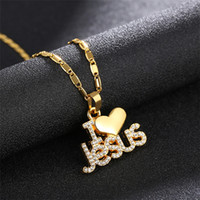 2018 Necklace & Pendants Muslim Necklace For Women Pure Gold Color Arabic Islam Religious Totem With Small Beads Chain Jewely