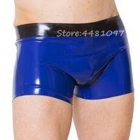 2020 new style Latex Rubber Fetish Men Shorts Underpants Handmade Rubber Sexy Boys Underwear Hot Sell XS-XXXL