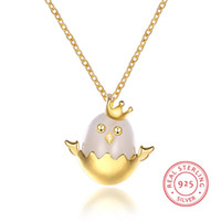 SHANKLAN Fashion Pendant Necklace Women' s Cute Crown An...