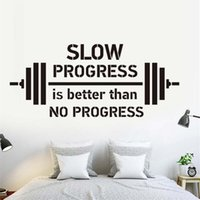 Slow Progress Is Better Than No Progress Wall Stickers Gym H...
