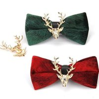 finest bow tie Christmas elk reindeer bowknot evening party ...