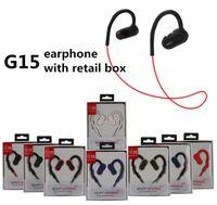 G15 Trådlösa hörlurar G15 Hörlurar G15 Bluetooth Stereo Sport Headset Vattentät i öronkrok Trådlöst öronproppar med mikrofon och detaljhandel
