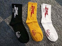 Dhl Letter Print Personality Stockings Men Fashion Female Ou...