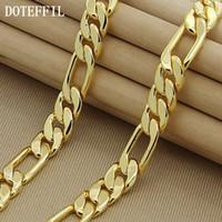 High Fashion 8mm 22 Zoll Gold Chain Link Halskette Chunky Männchen Schmuck 24k Vakuum Beschichtung Schmuck Zubehör