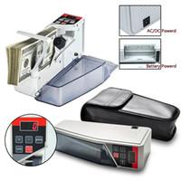 Dijital Para Sayaç Makine Deri Çanta Mini Taşınabilir Para Makinası AB fişi ile Döviz Notu Bill Nakit Banknot Counter