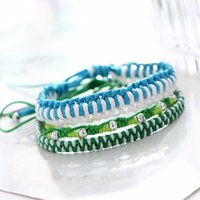 Traditional handwoven cotton rope bracelet women' s char...