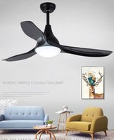 Quatre saisons lampe de suspension de ventilateur de conversion de fréquence 48 pouces Led lustre télécommande ventilateur de plafond salon ventilateur chambre