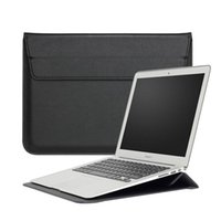Macbook Sleeve With Stand Laptop case Shiny PU leather For M...