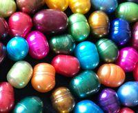 tatlı su inci PILL OVAL İNCİ Kültürlü Pearl Oyster 16 renk akoya PARTİ FAVOR Vakum Ambalaj 8-9mm