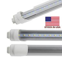 米国在庫送料無料12ピースロットLED T12交換用クーラードア96 '' 8フィートチューブ45W 5000LM T8 LED 8フィートの日光電球6000K-6500K