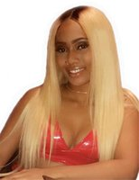 Brazilian Full Lace Wig with Baby Hair Ombre 613 Blonde Pre ...