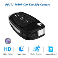 Araba Anahtarı Kamera Full HD 1920 * 1080 P Hareket IR Kamera Ile Aktive Araba Anahtarı Kamera Mini DV DVR Kamera PQ193