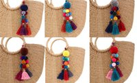 200pcs Pom Pom Key Chain Key Rings Big Tassel Key Chains for...