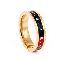 Новая мода титана стали gear кольцо, титана стали ювелирные изделия воды призрак скорость шкала пара кольцо мужская серебро черное золото хит Цвет кольца