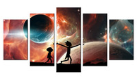 Rick and Morty 5 Piece Canvas Prints Wall Art Decor Poster S...