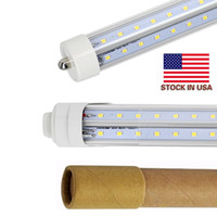 Stock In US + V- Shaped Single Pin FA8 R17D 8ft led tubes lig...