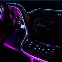 2m luci decorative auto guida di notte luce ambientale el linea fredda fai da te cruscotto decorativo porta della console con 12v drive