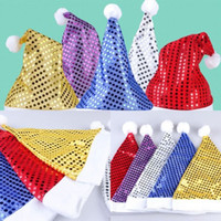 Natale paillettes sheen cappello santa bambini bambini uomini donne costumi festivi cap dress up puntelli accessori partito accessori 5 colori