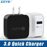 ZZYD QC3. 0 Fast Wall Charger EU US USB Adapter Quick Chargin...
