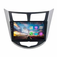 Android 7.1 Araba Radyo GPS Multimedya Kafa Ünitesi Araba DVD Hyundai Verna Solaris Accent 2011 2012 2 GB RAM Ile BT USB WIFI Ayna-bağlantı