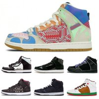 New SB Zoom Dunk High Prem TC WhatThe Black Iridescent Thoma...