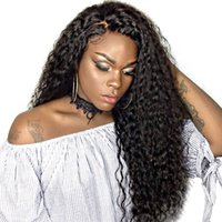 360 Lace Front Human Hair Wigs For Black Women Natural Black...