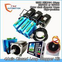 4 Eje de lazo cerrado paso a paso Kit Nema34 2Phase 60Vac 5.6A 12N.m conductor + + + controlador de motor 60Vac Transformador de control de movimiento CNC