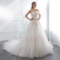 2018 new elegant white A Line bateau Wedding Dresses with Ti...