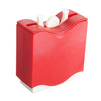 New 1 pcs Weight Lifter Automatic Toothpick Holder Bucket Ho...