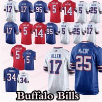 Buffalo Bills jerseys 17 Josh Allen 25 LeSean McCoy 95 Кайл Уильямс 49 Тремейн Эдмундс 34 Турман Томас 12 Джим Келли Джерси