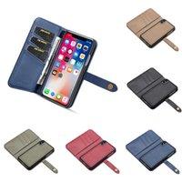 Orijinal artı vaka iPhone çevirme cüzdan telefon gerçek iphone deri 7 max xr kart tutucu standı x xs 8 için lüks 6 s kapak 6 retro kcnbs