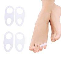 Gel de silicone Toe Separadores bunionette Pads do alfaiate joanete corrector espaçadores-Pain Relief para dedos do pé pequenos