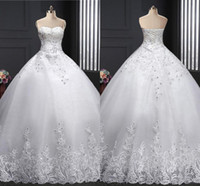 2018 Plus Sizes New Fashion Ball Gown Wedding Dresses Sweeth...