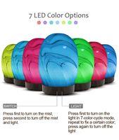 100ML 초음파 공기 아로마 가습기 7 색 조명 전기 아로마 안개 제조 업체 에센셜 오일 아로마 기관총 가정용