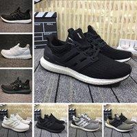 Cheap Ultra boost 4. 0 3. 0 Running shoes core Triple Black wh...