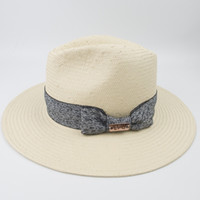 Light weight Paper straw panama hat for woman ladies vacatio...