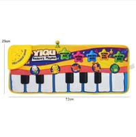 Novo bebê infantil piano tocando brinquedo com música engraçada e sons de animais rastejando Mat Bay Kids Educacional Presente 72 * 29 cm