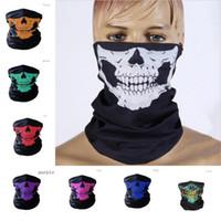 Halloween Maske Festival Schädel Masken Skeleton Outdoor Motorrad Fahrrad Multi funktion Halswärmer Ghost Halbe Gesichtsmaske Schals