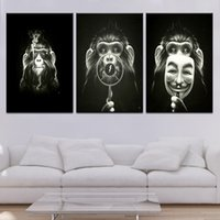 Cheeky Monkey 3 panel HD Print Moderno Nórdico Modular Wall posters Canvas Art painting Para home living room decor
