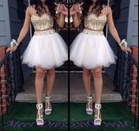 Mais recente design feito personalizado vestidos de baile de baile vestido de espaguete dois peças Homecoming vestidos especiais ocasião vestidos