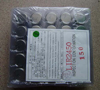 500pcs LIR2450 Rechargeable button cell battery 110mAh, 3. 6V...