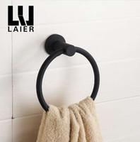 304 스테인레스 스틸 타월 링 크롬 타월 고리 원형 간단한 검정 유럽 욕실 액세서리 걸려