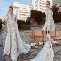 Miriams Bride 2019 Mermaid Wedding Dresses With Detachable S...