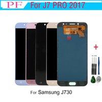 Samsung galaxy Için 1 Adet J730 LCD J7 Pro 2017 Ekran J730F SM-J730F Samsung J730 Için LCD Dokunmatik Ekran Digitizer Meclisi LCD Değiştirme