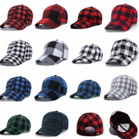14colors Plaid hat Baseball Cotton Cap plaid Snapback Caps U...