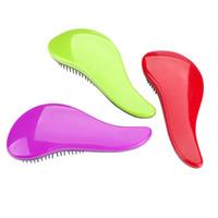 7 magici colori di massaggio Spazzola manico di capelli del pettine della spazzola Styling Tamer strumento Groviglio Doccia Capelli pettine